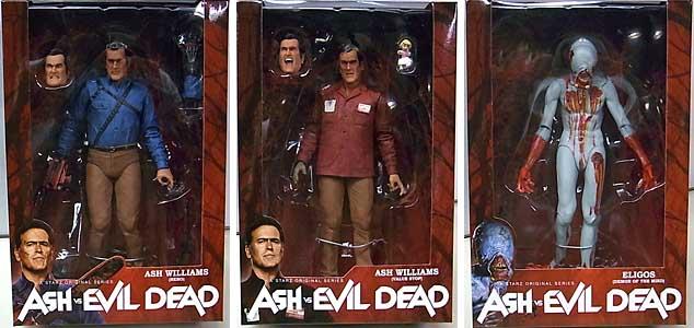 NECA ASH VS EVIL DEAD 7インチアクションフィギュア シリーズ1 3種セット