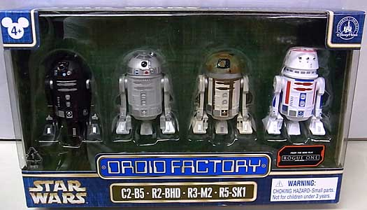 STAR WARS USAディズニーテーマパーク限定 STAR WARS ROGUE ONE DROID FACTORY 4PACK