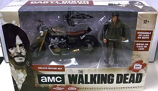 McFARLANE TOYS THE WALKING DEAD TV 4.5インチアクションフィギュア DARYL DIXON WITH CUSTOM BIKE DELUXE BOX