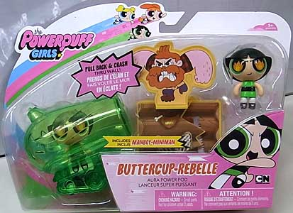 SPIN MASTER THE POWERPUFF GIRLS 2インチアクションドール PULL BACK & CRASH BUTTERCUP REBELLE