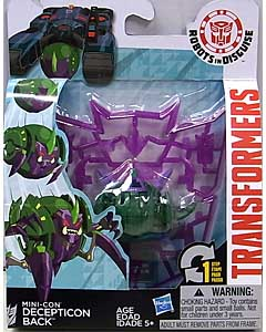 HASBRO アニメ版 TRANSFORMERS ROBOTS IN DISGUISE MINI-CON DICEPTICON BACK