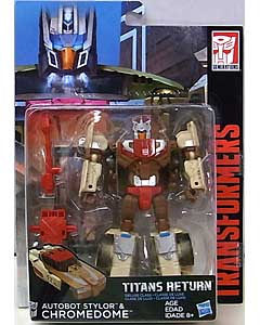 HASBRO TRANSFORMERS GENERATIONS TITANS RETURN DELUXE CLASS AUTOBOT STYLOR & CHROMEDOME