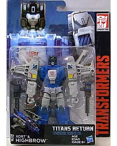 HASBRO TRANSFORMERS GENERATIONS TITANS RETURN DELUXE CLASS XORT & HIGHBROW