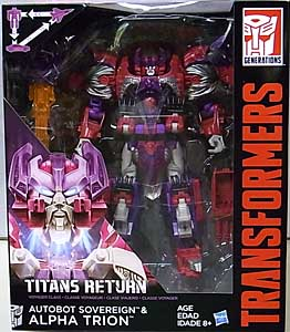 HASBRO TRANSFORMERS GENERATIONS TITANS RETURN VOYAGER CLASS AUTOBOT SOVEREIGN & ALPHA TRION
