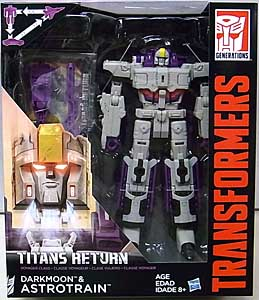 HASBRO TRANSFORMERS GENERATIONS TITANS RETURN VOYAGER CLASS DARKMOON & ASTROTRAIN