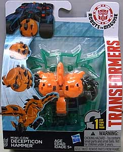 HASBRO アニメ版 TRANSFORMERS ROBOTS IN DISGUISE MINI-CON DECEPTICON HAMMER パッケージ傷み特価