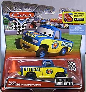 MATTEL CARS 2016 シングル MOVIE MOMENTS DEXTER HOOVER WITH SAFETY CONES
