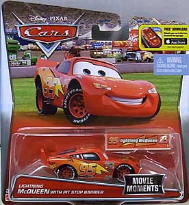 MATTEL CARS 2016 シングル MOVIE MOMENTS LIGHTNING McQUEEN WITH PIT STOP BARRIER