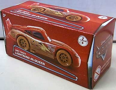 MATTEL CARS 2017 PUZZLE BOX DIRT TRACK LIGHTNING McQUEEN