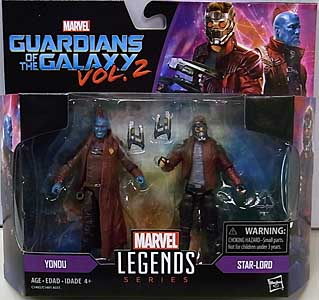 HASBRO MARVEL LEGENDS SERIES 2017 3.75インチアクションフィギュア 2PACK 映画版 GUARDIANS OF THE GALAXY VOL. 2 YONDU & STAR-LORD