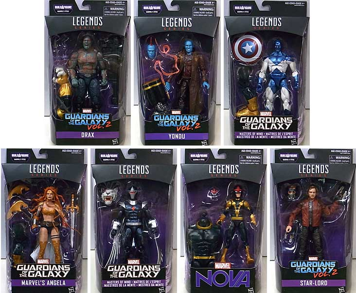 HASBRO MARVEL LEGENDS 2017 GUARDIANS OF THE GALAXY SERIES 1.0 7種セット [TITUS SERIES] [国内版]