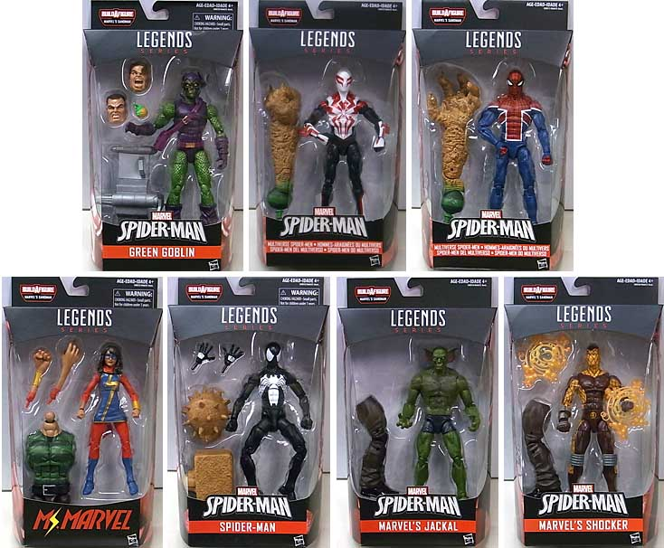 HASBRO MARVEL LEGENDS 2017 SPIDER-MAN SERIES 5.0 7種セット [SANDMAN SERIES] [国内版]