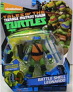 PLAYMATES NICKELODEON TALES OF THE TEENAGE MUTANT NINJA TURTLES ベーシックフィギュア 2017 BATTLE SHELL LEONARDO