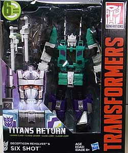 HASBRO TRANSFORMERS GENERATIONS TITANS RETURN LEADER CLASS DECEPTICON REVOLVER & SIX SHOT