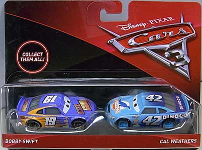 MATTEL CARS 3 2PACK BOBBY SWIFT & CAL WEATHERS 台紙傷み特価