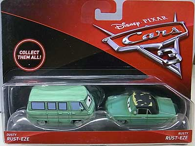 MATTEL CARS 3 2PACK DUSTY RUST-EZE & RUSTY RUST-EZE