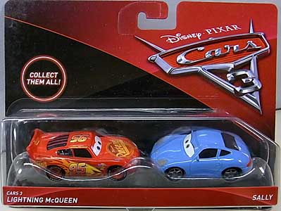 MATTEL CARS 3 2PACK CARS 3 LIGHTNING MCQUEEN & SALLY