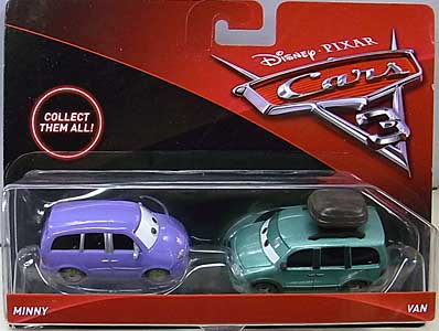 MATTEL CARS 3 2PACK MINNY & VAN