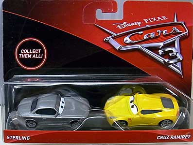 MATTEL CARS 3 2PACK STERLING & CRUZ RAMIREZ 台紙傷み特価