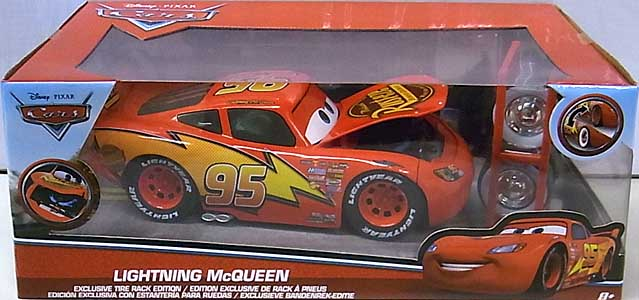 JADA TOYS CARS 2017 METALS DIE CAST 1/24スケール LIGHTNING McQUEEN EXCLUSIVE TIRE RACK EDITION