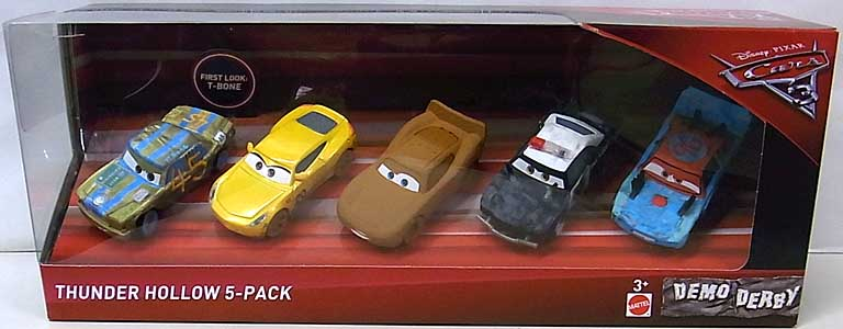 MATTEL CARS 3 THUNDER HOLLOW 5PACK パッケージ破れ特価