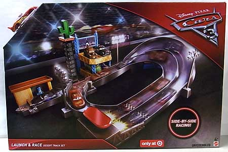 MATTEL CARS 3 PLAYSET LAUNCH & RACE DESERT TRACK SET