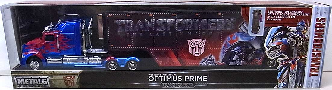 JADA TOYS 映画版 TRANSFORMERS: THE LAST KNIGHT METALS DIE CAST 1/64スケール OPTIMUS PRIME [WESTERN STAR 5700 XE]