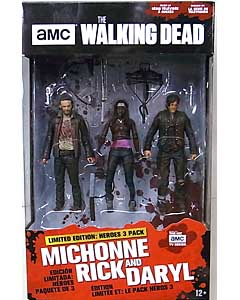 McFARLANE TOYS THE WALKING DEAD TV 5インチアクションフィギュア WALMART限定 HEROES 3PACK