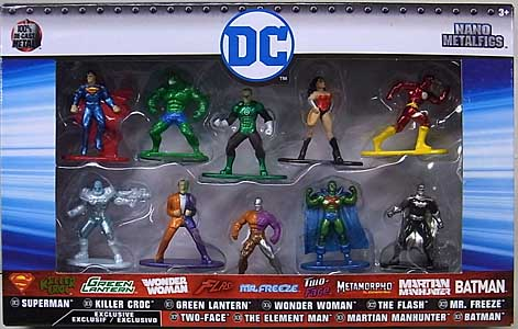 JADA TOYS NANO METALFIGS DC 10PACK [GREEN LANTERN入り]