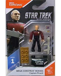 MEGA CONSTRUX MEGA CONSTRUX HEROES SERIES 1 STAR TREK THE NEXT GENERATION CAPTAIN PICARD 台紙傷み特価