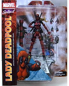 DIAMOND SELECT MARVEL SELECT LADY DEADPOOL パッケージ傷み特価