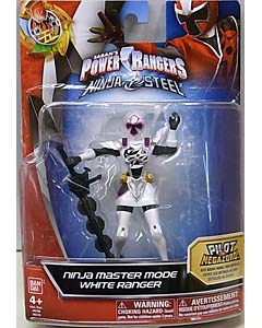 USA BANDAI POWER RANGERS NINJA STEEL 5インチアクションフィギュア NINJA MASTER MODE WHITE RANGER