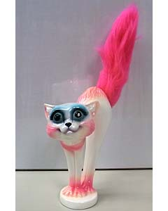 MAD SCULPTURES SCARED CAT [PINK]