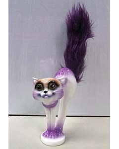 MAD SCULPTURES SCARED CAT [PURPLE]