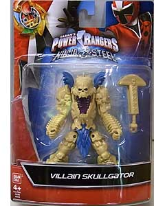 USA BANDAI POWER RANGERS NINJA STEEL 5インチアクションフィギュア VILLAIN SKULLGATOR