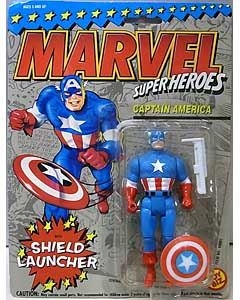 TOYBIZ MARVEL SUPER HEROES 5インチアクションフィギュア CAPTAIN AMERICA [SHIELD LAUNCHER] 台紙傷み特価
