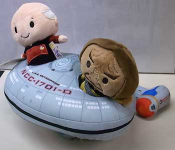 HALLMARK ITTY BITTYS STAR TREK THE NEXT GENERATION CAPTAIN PICARD & WORF