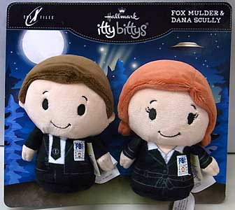 HALLMARK ITTY BITTYS THE X-FILES FOX MULDER & DANA SCULLY