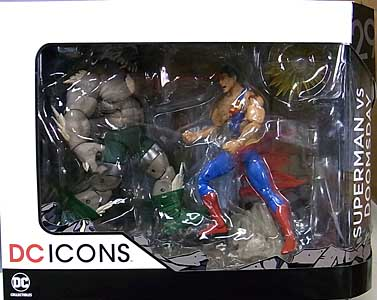 DC COLLECTIBLES DC ICONS SUPERMAN VS DOOMSDAY 2PACK