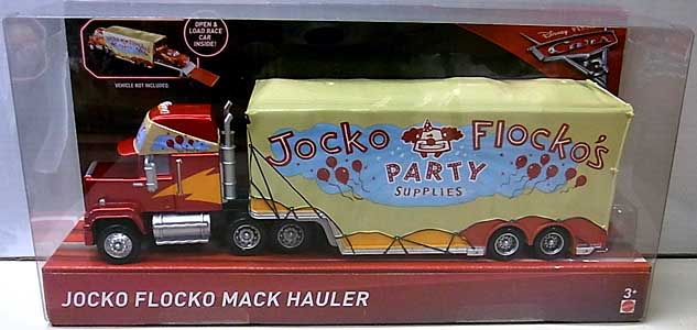 MATTEL CARS 3 HAULER JOCKO FLOCKO MACK HAULER パッケージ傷み特価