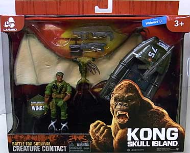 LANARD TOYS KONG: SKULL ISLAND CREATURE CONTACT PTERODACTYLUS WITH BOAT