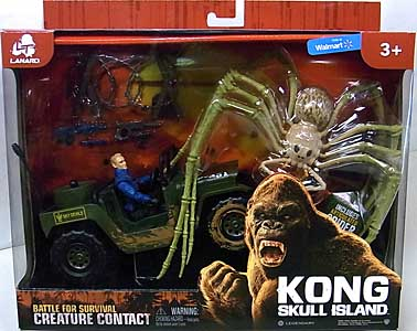 LANARD TOYS KONG: SKULL ISLAND CREATURE CONTACT SPIDER WITH JEEP
