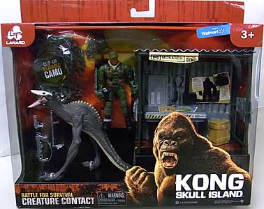 LANARD TOYS KONG: SKULL ISLAND CREATURE CONTACT DINO MONSTER WITH SHACK
