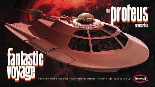 メビウスモデル 1/32スケール ミクロの決死圏 特殊潜航艇プロテウス号 組み立て式プラモデル パッケージ傷み特価