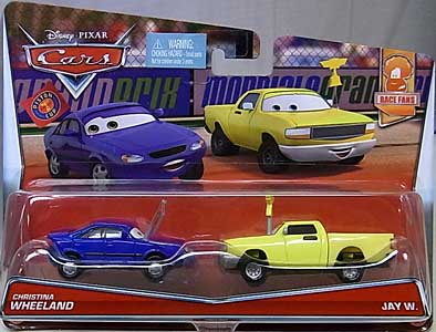 MATTEL CARS 2017 2PACK CHRISTINA WHEELAND & JAY W.