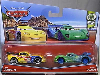 MATTEL CARS 2017 2PACK JEFF GORVETTE & CARLA VELOSO ブリスターワレ特価