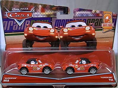 MATTEL CARS 2017 2PACK SUPERFAN MIA & SUPERFAN TIA ブリスターワレ特価