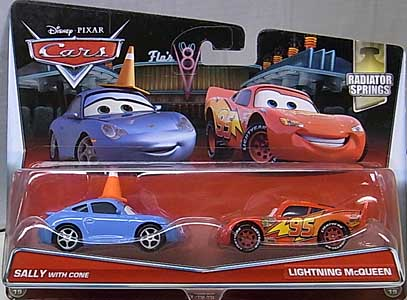 MATTEL CARS 2017 2PACK SALLY WITH CONE & LIGHTNING McQUEEN