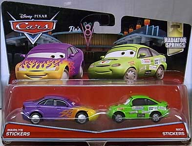 MATTEL CARS 2017 2PACK MARILYN STICKERS & NICK STICKERS