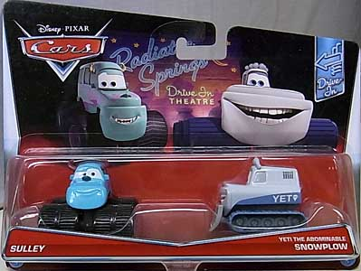 MATTEL CARS 2017 2PACK SULLEY & YETI THE ABOMINABLE SNOWPLOW ブリスターワレ特価